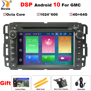 7  IPS DSP HD Octa Core 4 + 64G Android 9 автомобильный DVD для GMC Yukon Sierra Chevrolet Chevy Tahoe Suburban Car DVD GPS стерео радио Nav
