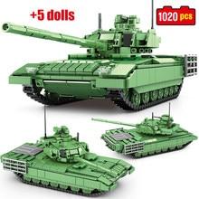 WW2 City Armata Main Battle Tank Building Blocks Creator Military Army High-tech Vehicle Figures Model Bricks Toys For Children