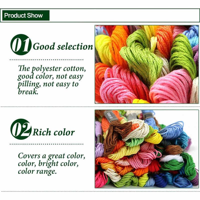 متعدد الألوان التطريز الموضوع عبر غرزة الخيط المواضيع القطن الخياطة سكينز سكيين عدة DIY بها بنفسك الخياطة أداة 50/100/150/200/250/450 قطعة