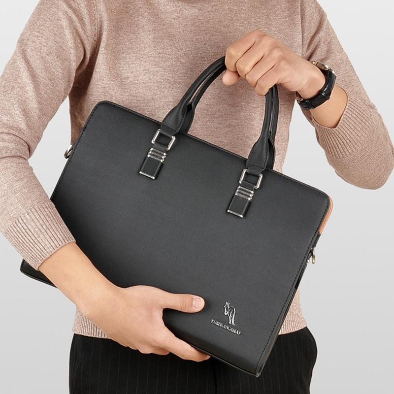 YUESKANGAROO Men's Laptop Briefcase Business Handbag Large Capacity Messenger Bags Male Vintage Leisure Shoulder Bag