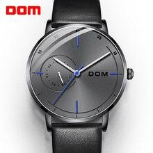 DOM Luxury Brand Watches Men Sports Watches Waterproof Luminous Quartz Men Minimalist Wrist Watch Clock Male Relogio M 1276BL 8M