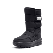 New Winter Women snow boots female Thickened cotton boots in middle Flat cotton shoes Waterproof winter snow boots girl shoes issacoco new snow boots winter women shoes women antiskid waterproof women winter women s boots snow boots snow boots girl
