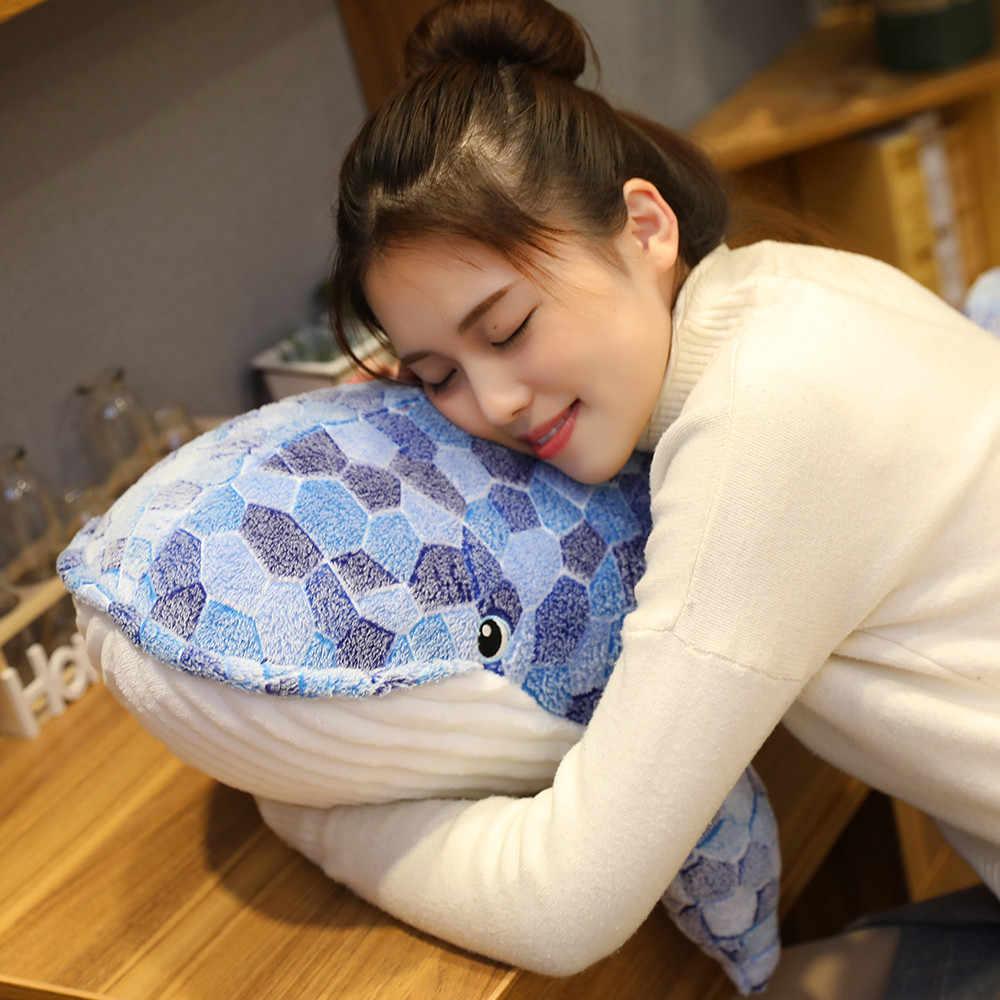 Od centrum Hot 50/110CM nowy Cartoon niebieski rekin wypchane pluszowe zabawki gruba ryba wieloryb dla dzieci miękkie poduszka ze zwierzątkiem lalki prezenty urodzinowe dla dzieci