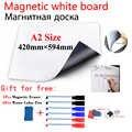 A2 Size Magnetische School White Board Koelkast Magneten Muurstickers Whiteboard Voor Kinderen Home Office Dry-Erase Board Wit boards
