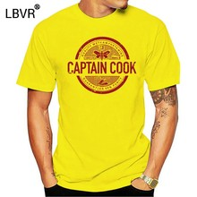 Captain Cook T-shirt For Man Chef T Shirt Letter Tshirt Printed Clothes Birthday Gift Tops Hip Hop Tees Adult Cotton Sweatshirts(China)