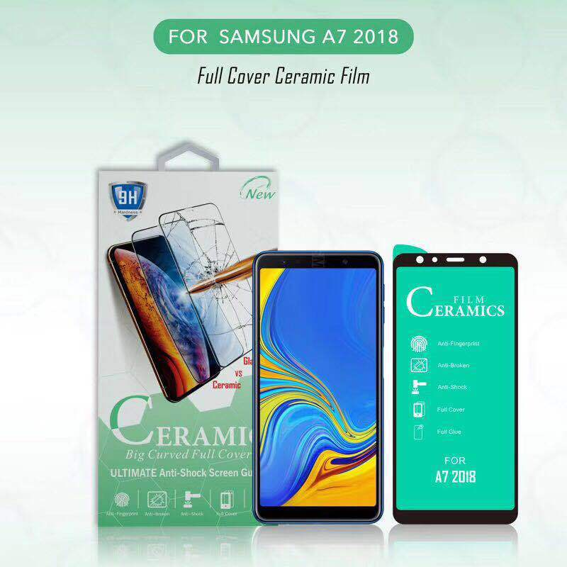 Full Cover Ceramic Screen Protector for <font><b>Samsung</b></font> Galaxy A2 Core A6 A7 A8 A9 Plus <font><b>2018</b></font> A01 A10 A10S A11 A20S <font><b>750</b></font> Film image