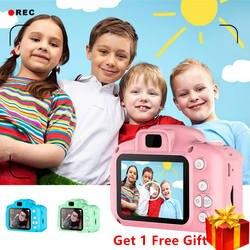 Мини цифровая камера игрушки для детей 2 дюймов HD экран аккумуляторная реквизит для фотосъемки милый ребенок подарок на день рождения