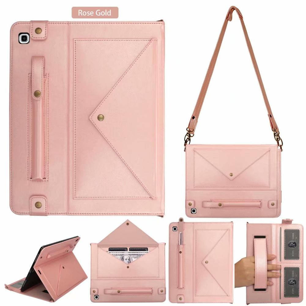 """Multifunction Shoulder Bag For Samsung Galaxy Tab S5e 10.5"""" SM-T720 T725 Case Cover Wallet Leather Tablet Case Envelope Pouch-0"""