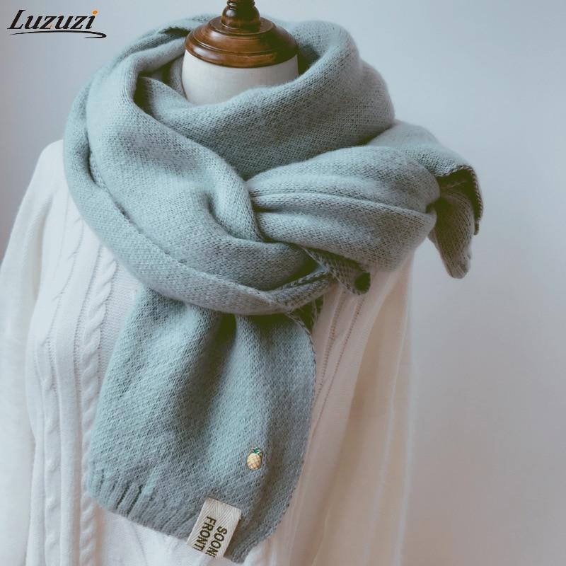 2020 bufandas de cachemir sólidas para mujer chales Pashmina suaves y cálidos de invierno para mujer, chal largo tejido de lana negro rosa para mujer