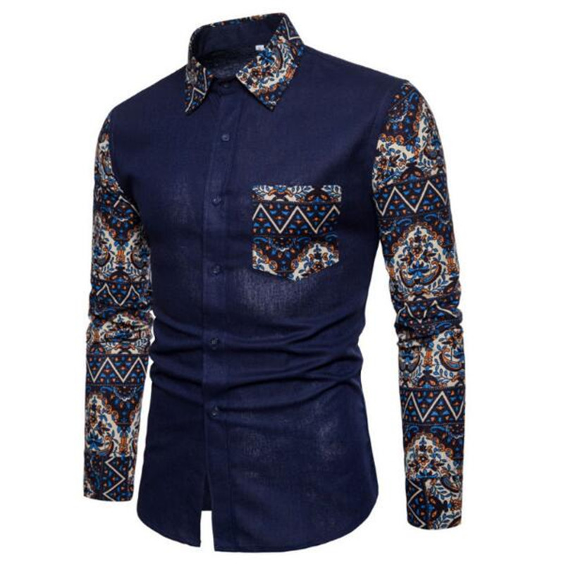 ZNG 2020 New Casual Men Shirt Long Sleeve Europe Style Slim Shirt Men High Quality Cotton Shirts