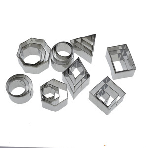 Image 4 - 2 4cm 24pcs/Lot Stainless Steel Geometry Round Square Clay Cutter Designer DIY Ceramic Pottery Polymer Clay Craft Cutting Mold