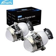 RONAN EVOX R V2.0 D2S Bi Xenon projektör lens far güçlendirme E60 E39 X5 E53 A6 C5 C6 A8 Benz için w211 209 araba far