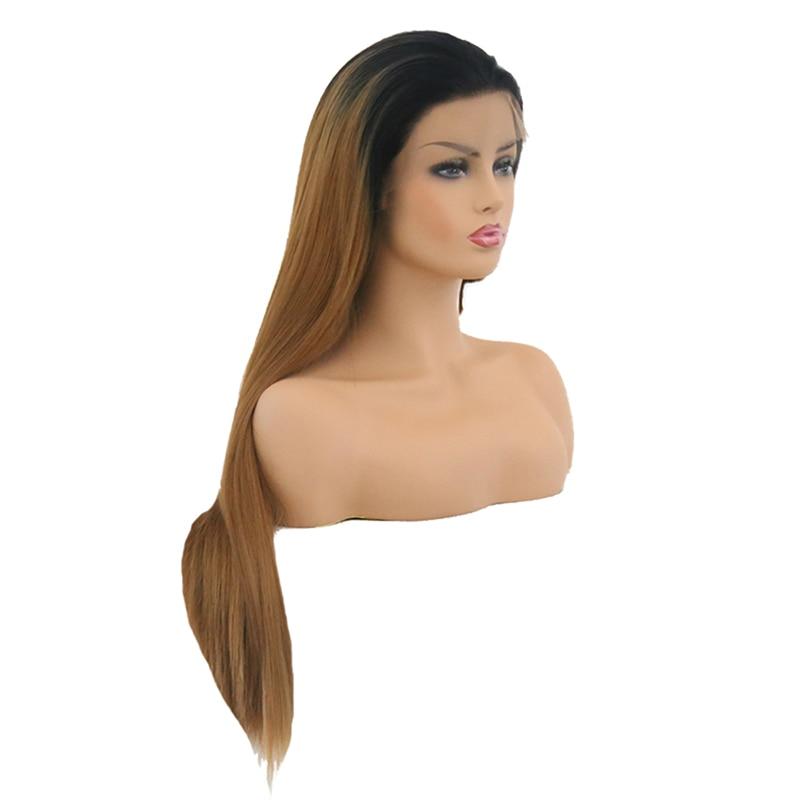 Aimeya parte livre perucas sintéticas preto raízes