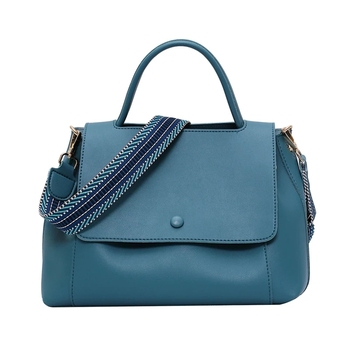 Women Large Capacity Handbags 2020 New Simple Bags PU Shoulder Messenger Bag Lady Retro Elegant Contrast Color