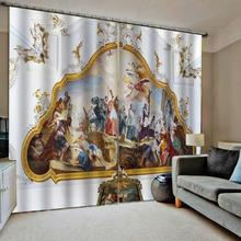 Europe curtains angel curtain Customized size Luxury Blackout 3D Window Curtains For Living Room