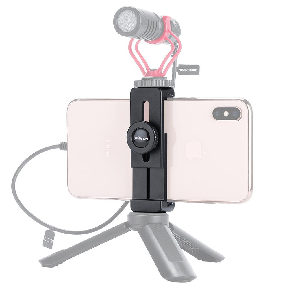 DishyKooker ULANZI ST-02L Smartphone Vlog Phone Mount With Cold Shoe For Microphone Vlog Phone Stand Holder For IPhone Android