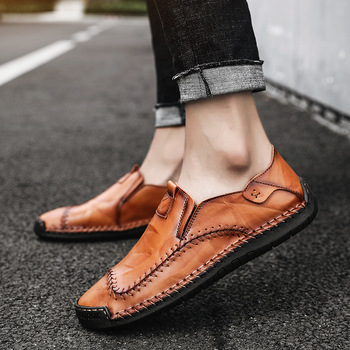 Luxury Fashion Leather Sneakers Men Handmade Men Zapatos Hombre Comfortable Men Casual Flats Oxford Shoes big size 38-48 B51-13