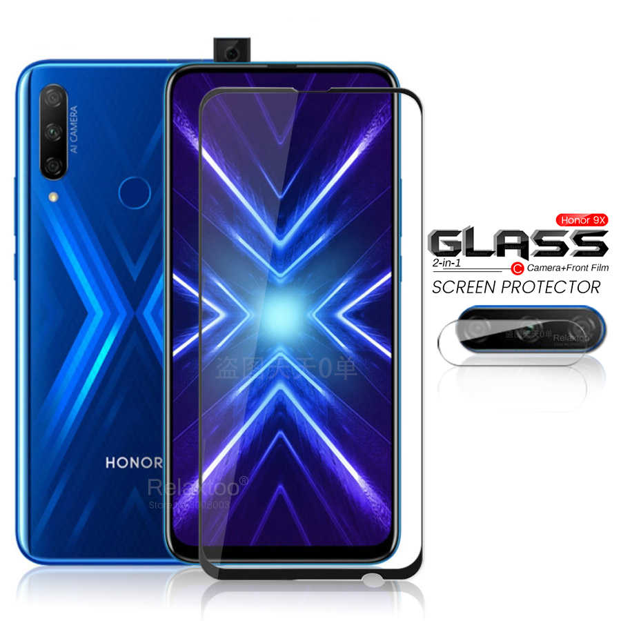 2in1 honour 9x verre global caméra de protection verre sur honour 9x premium 9 x x9 honour 9x stk-lx1 6.59 ''film de protection blindé 9 h