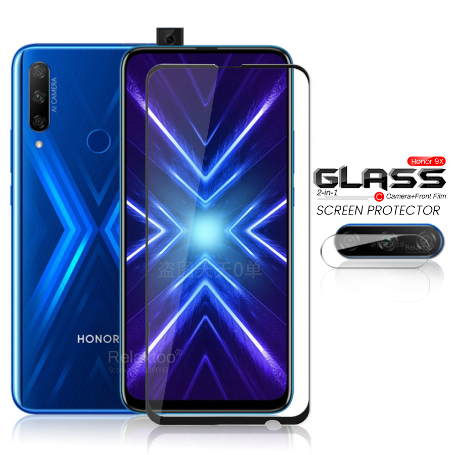 2in1 Honor 9x Global Glass Protective Camera Glass On Honor 9x Premium 9 X X9 Honor9x Stk-lx1 6.59'' Armored Protection Film 9h