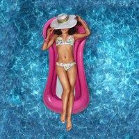 Aufblasbare Schwimm Matratze Reihe Schwimmen Strand Sommer Wasser Sport Schwimmen Pool Lounges Bett Float Pool Lounge Stuhl mit Pumpe