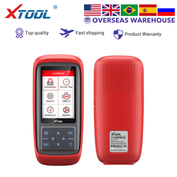 XTOOL X100 Pro2 key programmer OBD2 car auto scanner odometer adjustment EEPROM Adapter code reader IMMOBILIZER online update