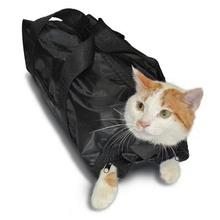 Mesh Cat Grooming Bath Bag bag For Pet Bathing Nail Trimming Injecting Anti Scratch Bite Restrain Cleaning Supplies