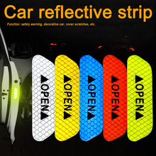 Newly Car Reflective Strips Sticker Warning Tape Night Open Door Sign Decal Anti-Collision Mark BFE88 warning caution mark anti collision prevention reflective open logo ho car auto motorcycle door trunk decal sticker car styling