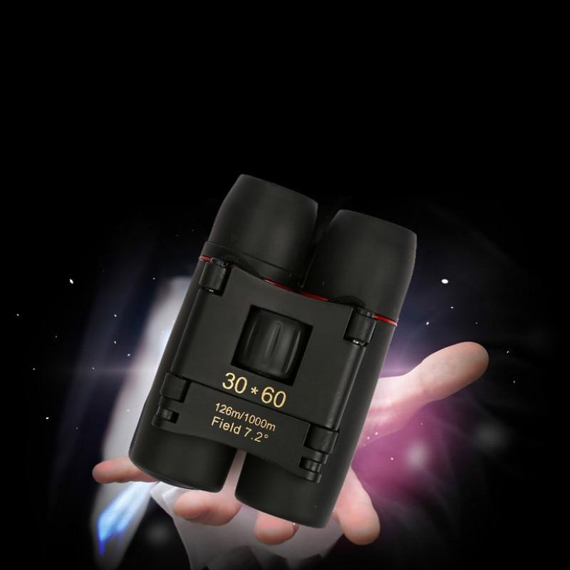 Купить с кэшбэком 30x60 Red Film High-power Binoculars Portable Mini-telescope Military Binoculars Telescope Telescopio High Quality Free Shipping