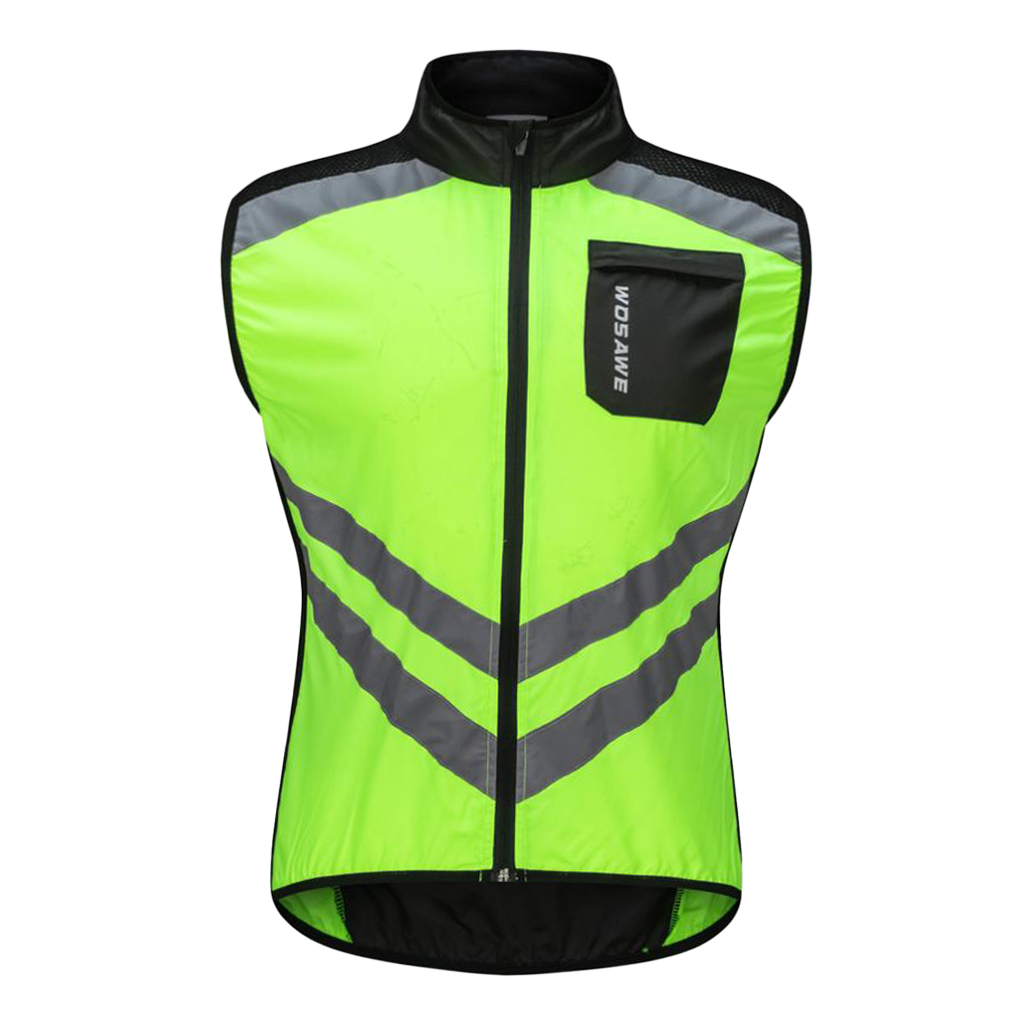 Safety Running Cycling Racing Bike Riding Road Biking Vest - Windproof Waterproof and Reflective