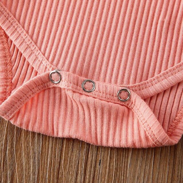 0-24M letnie ubrania dla niemowląt niemowlę noworodek dziewczynka potargane prążkowane body kwiatowe szorty pałąk 3 szt. Zestaw