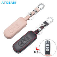 Étui en cuir pour clés de voiture, pour Mazda Cx-5 Cx-7 Cx-9 2 3 5 6 télécommande intelligente 3 boutons, sac de protection pour porte-clés, accessoires automobiles