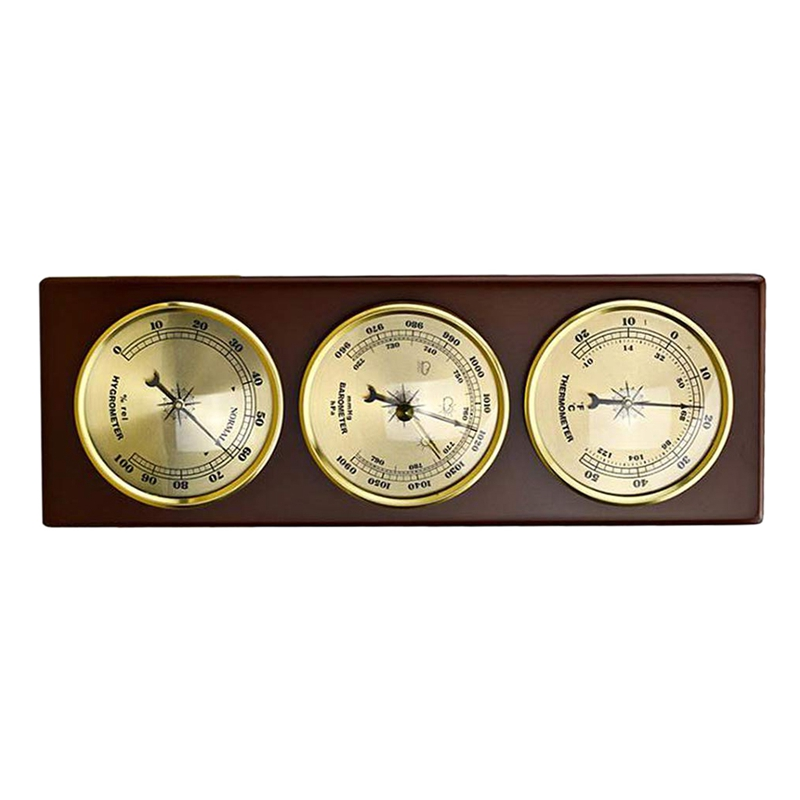 Image 5 - Hot Wall Barometer Thermometer Hygrometer Weather Station Hanging  Home/Office Metal MaterialTemperature Instruments