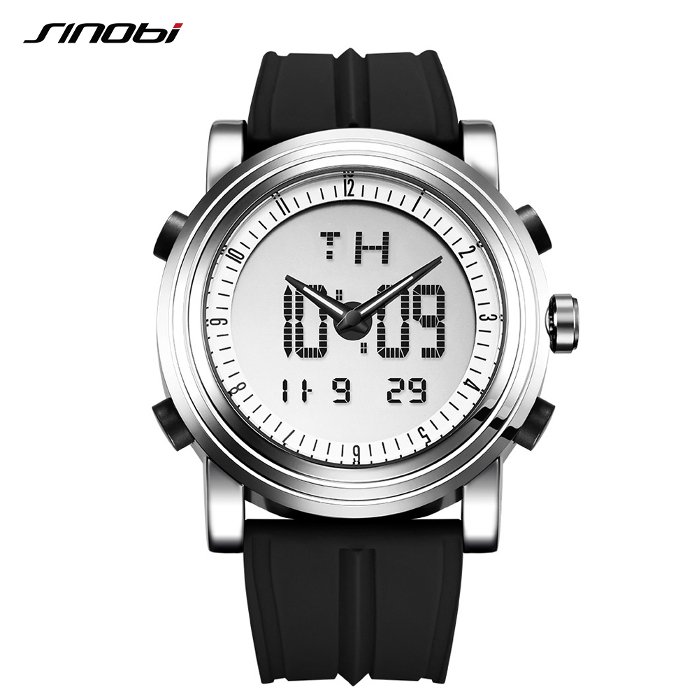 Sinobi Men's Digital Quartz Watch Multifunctional Chronograph  Wristwatch For Male Sport Waterproof Clock Relogio Masculino
