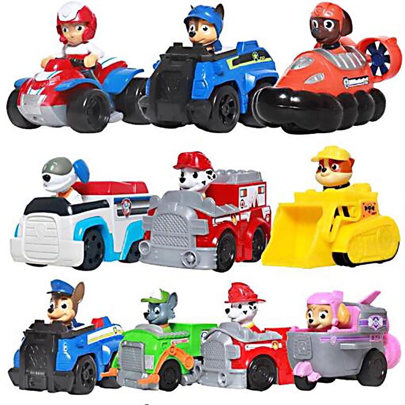 Genuine Paw Patrol Dog Puppy Patrol Car Patrulla Canina Toys Action Figures Model Toy Rubble Chase Rocky Zuma Skye Everest Tracker Sweetie Ryder Vehicle Cars Kids Christmas Gift Toy Free Delivery