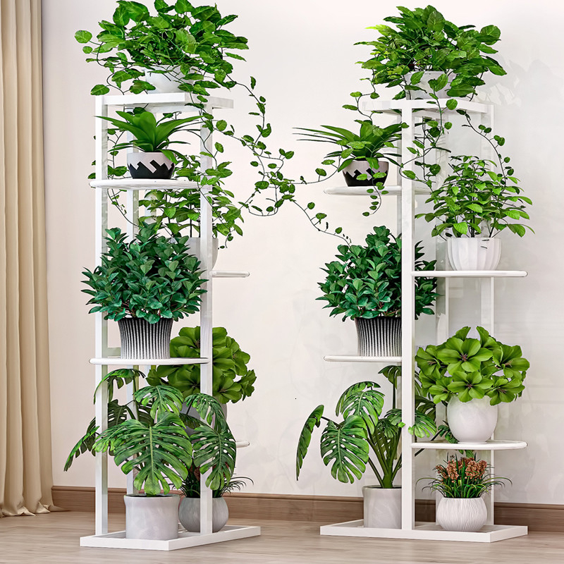 Indoor Household Balcony Decorate Iron Art Of Shelf A Living Room Simplicity Flowerpot Multi-storey Pylons Green Luo