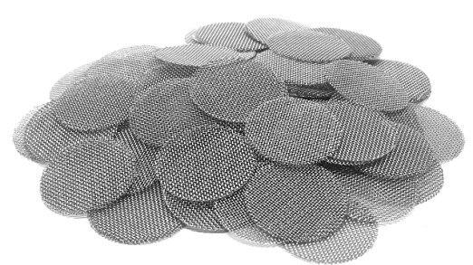 Купить с кэшбэком 500 of Pack Stainless Steel Pipe Screens For Metal Glass Acrylic Water Smoking Tobacco Pipe Filters Shisha/Hookah/16mm and 20mm