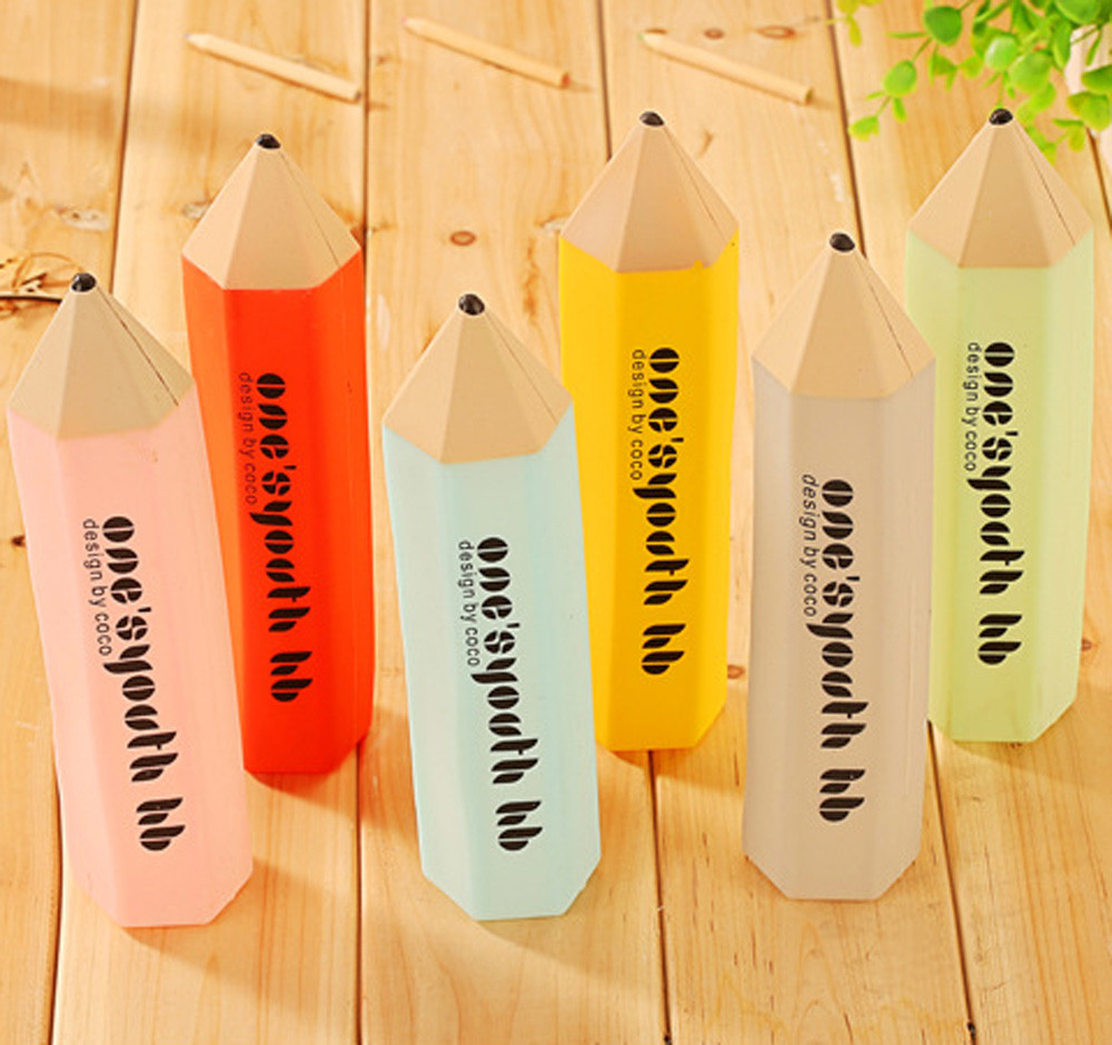 Mnycxen Simple Candy Color Silicone Pencil Case Pencil Case Office Stationery And School Supplies High Capacity Pencil Bag 1PCS