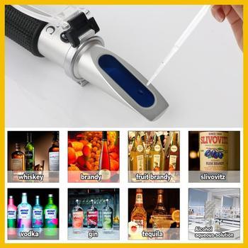 RZ مقياس انكسار الكحول مقياس الانكسار الكحولي اختبار الروح 0 ~ 80% فولت/فولت ATC أداة RZ116 مقياس الانكسار الكحولي