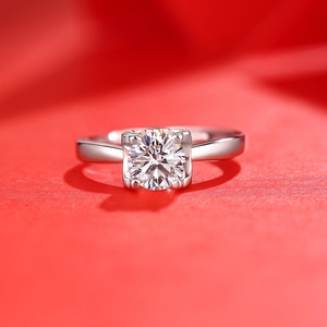 Image 3 - Moissanite Rings For Women D Color Resizable VVS1 with GRA Certificate 925 Sterling Silver Engagement Ring For Woman Jewelry