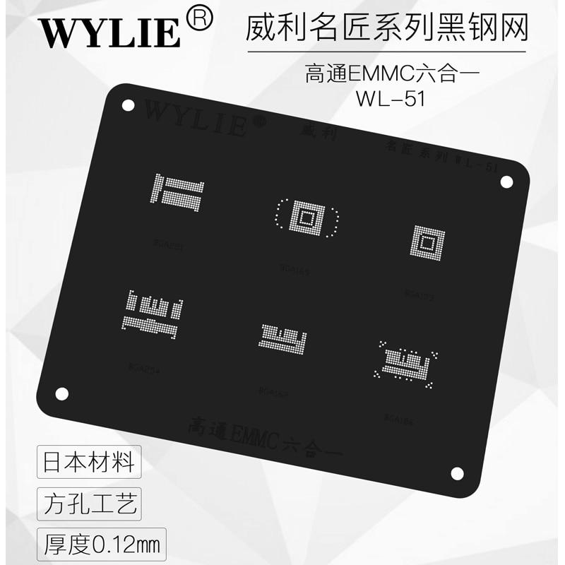 Black Stencil For BGA221 BGA153 BGA169 BGA254 BGA162 BGA186 Nand Flash EMMC BGA Stencil Reballing Pins Direct Heating Template