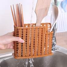 Hollow Kitchen Restaurant Tableware Drying Rack Drainer Spoon Storage Basket Shelf Chopstick Holder(China)