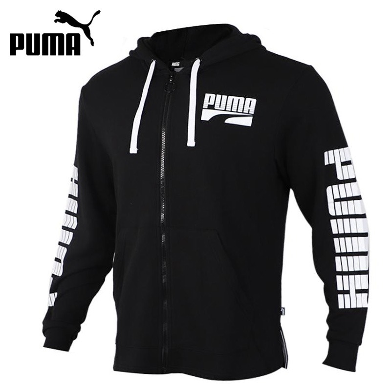 Original New Arrival   PUMA   Rebel Bold FZ Hoody TR Men's jacket Hooded  Sportswear