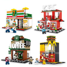 Toys For Children Street View Series Model Kit Compatible Legoing DIY Assembled Educational Building Blocks Brick Kids Gift O16 lepin 15001 2413pcs brick bank model educational building kids blocks bricks legoing toy compatible with 10251 for gift