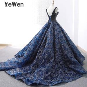 Image 4 - Sexy bleu Royal longue robe de soirée 2020 nouveauté Court Train perlé dentelle de noël Occasion spéciale robes de bal sur mesure