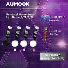Botón de inicio Universal YF para iPhone 7, 7 plus, 8 y 8 plus, cable flexible, botón de restauración, funciones de retorno de repuesto