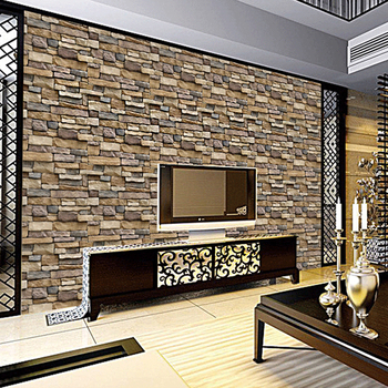 Retro Brick Stone 3d  Self Adhesive Vinyl Wallpaper Roll   Waterproof Living Room TV Background Wall paper home Decor grey silver textured wallpaper home decor modern abstract living room background brick stone concrete industrial wall paper roll