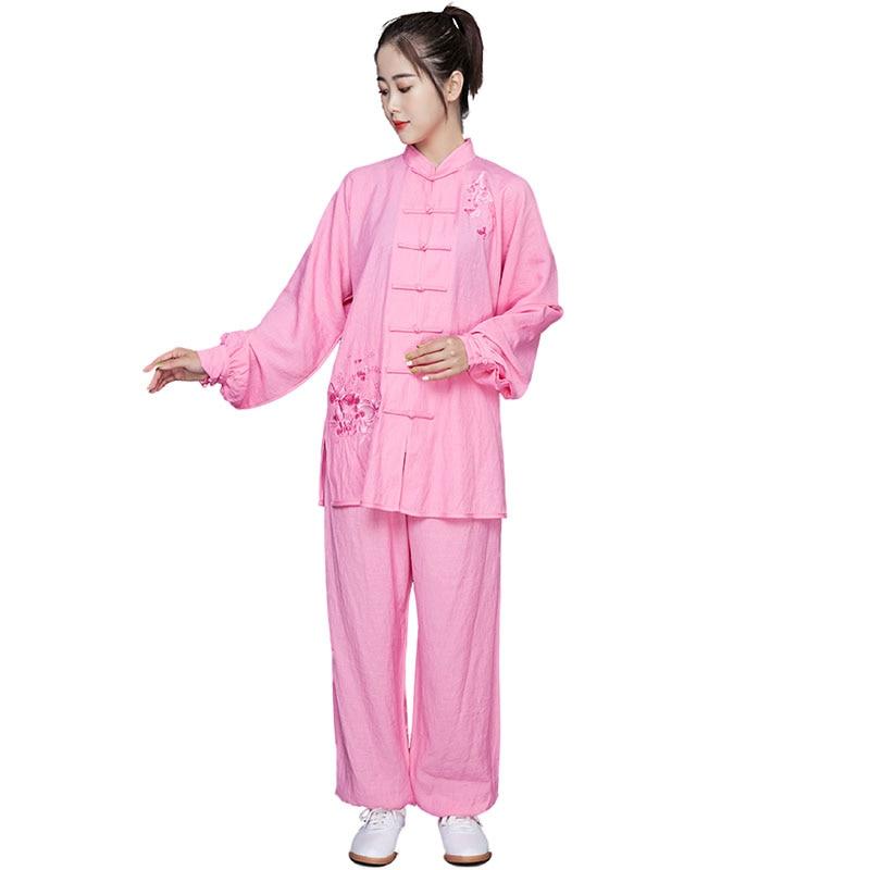 2019 Jiu Jitsu Wushu Kung Fu Uniform For Women Female Traditional Chinese Tai Clothing Long Sleeve Taichi Martial Arts Suit