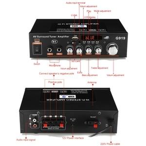 Image 5 - 12 فولت/220 فولت/110 فولت 360 واط بلوتوث ستيريو مكبر صوت صغير مكبر كهربائي FM SD HIFI 2CH أمبير الصوت مشغل موسيقى للسيارة المنزل