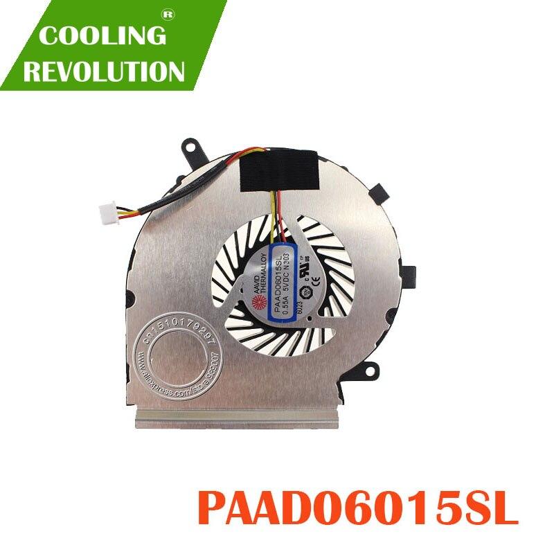 NEW CPU Cooling Fan for MSI GE62 GE72 GL62 GL72 PE60 PE70 PAAD06015SL
