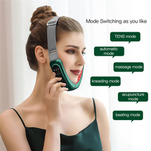 LED Photon Therapy V-Shape Slimming Facial Lifting Massager Micro-Current Electric Vibration Face Skin Rejuvenation Firm Beauty